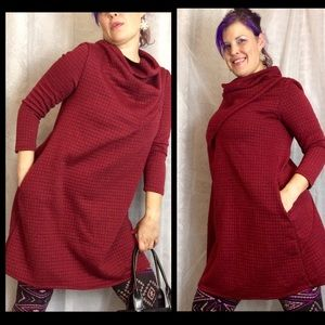 Dresses & Skirts - Quilted Sweater Dress with Pockets Sz large